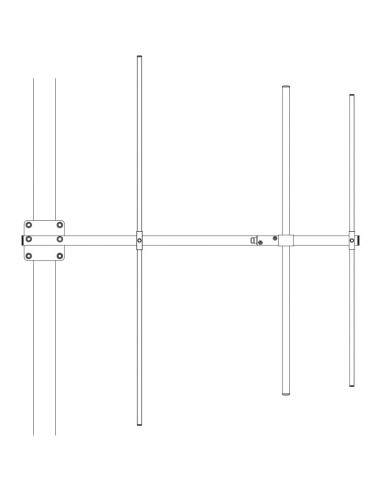 Directive VHF YAGI 3 elements - 136-146 Mhz